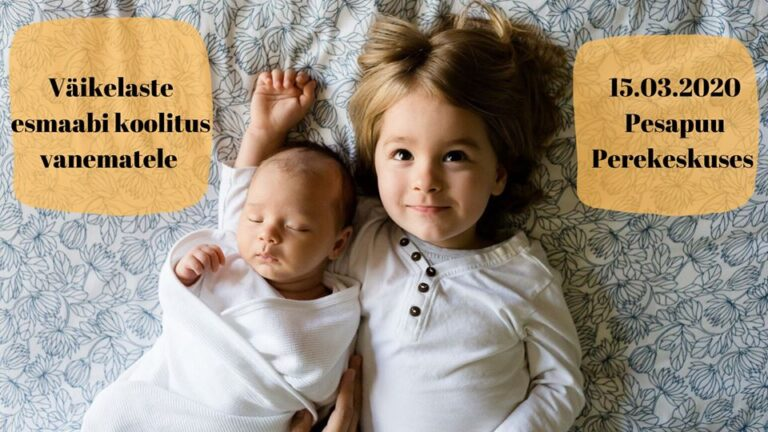 Väikelaste esmaabi koolitus lapsevanematele Peetris